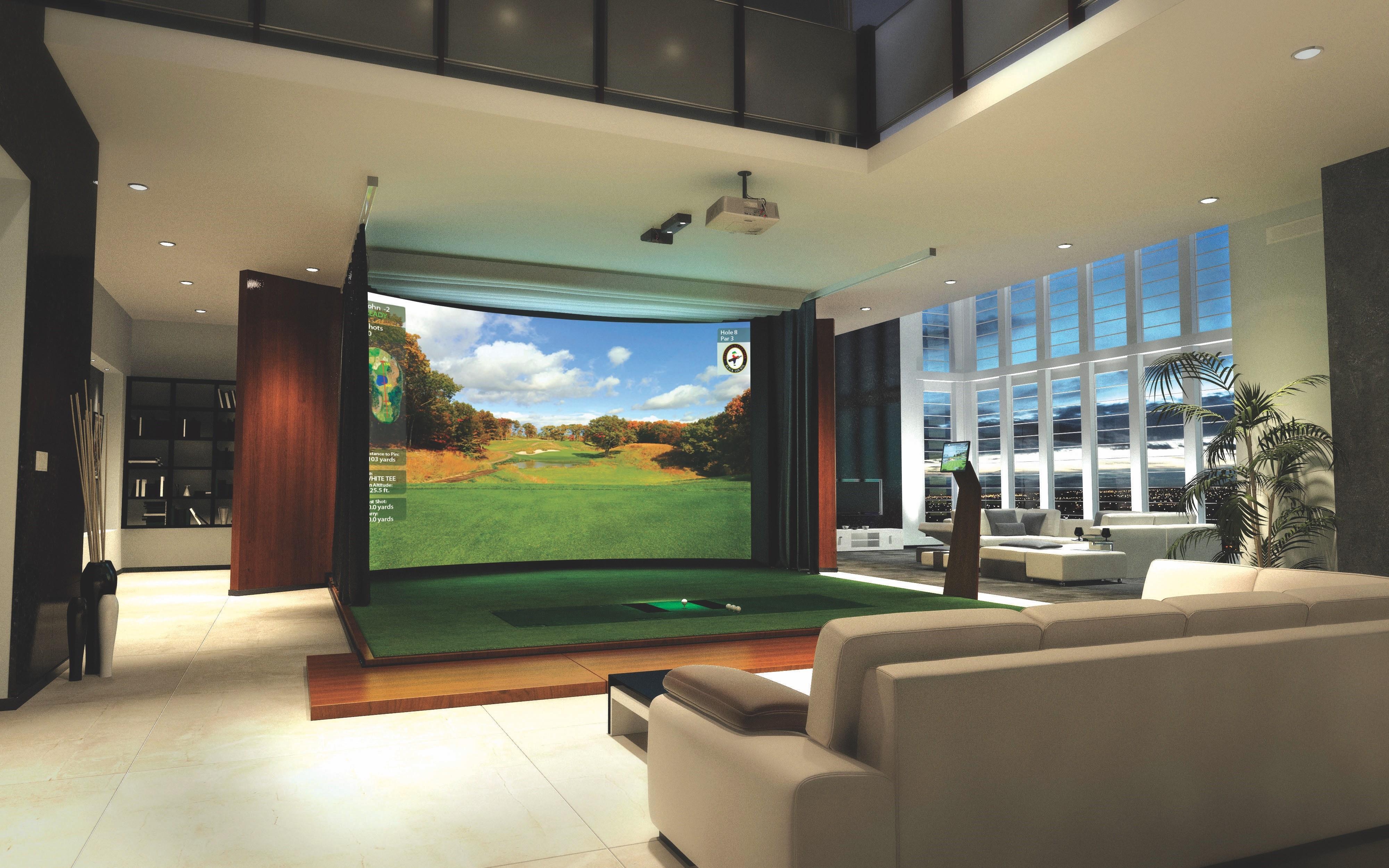 Sensational Top 4 Benefits Of A Golf Simulator For Your Home Interior Design Ideas Skatsoteloinfo